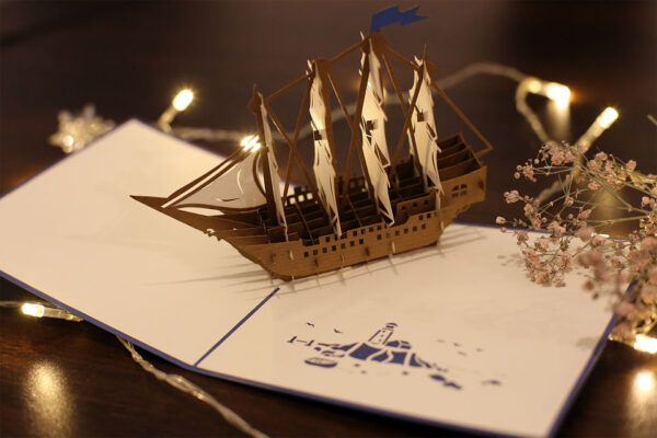Bateau battle-carte Pop Up 3D chez cartepopup.com