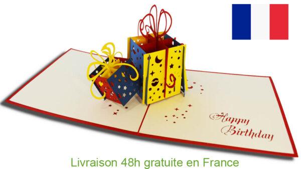 Cadeaux-carte Pop Up 3D chez cartepopup.com