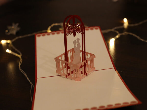 Carte de mariage-carte Pop Up 3D chez cartepopup.com