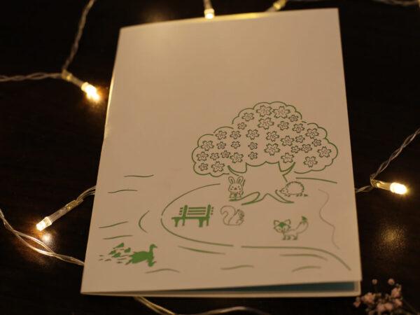 Cerisier-carte Pop Up 3D chez cartepopup.com