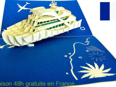 Croisiere-carte Pop Up 3D chez cartepopup.com