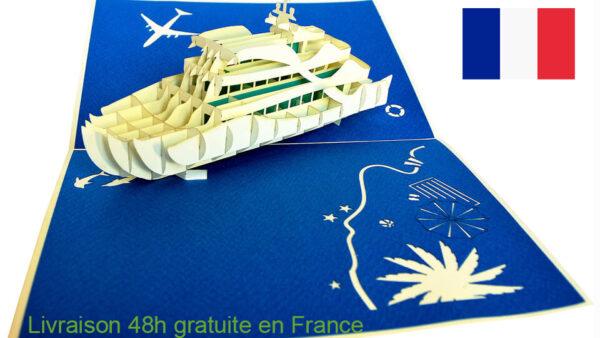 Croisiere-carte Pop Up 3D chez cartepopup.com