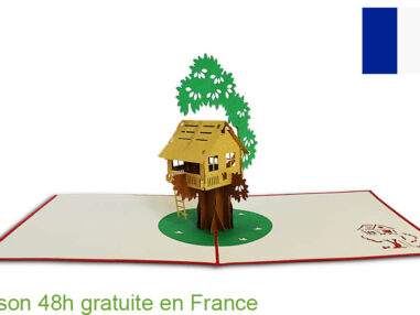 Maison sur arbre-carte Pop Up 3D chez cartepopup.com