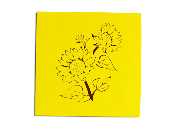 Tournesol-carte Pop Up 3D chez cartepopup.com