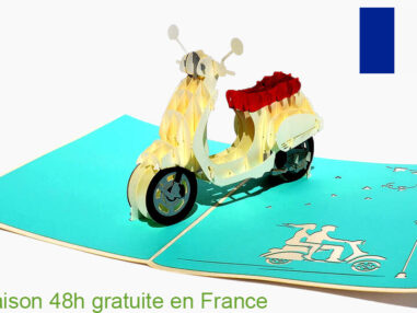 Vespa-carte Pop Up 3D chez cartepopup.com