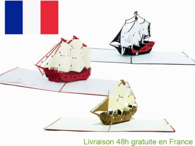 Collection bateaux pirate-carte Pop Up 3D chez cartepopup.com