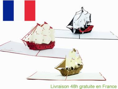 Collection bateaux pirate-carte Pop Up 3D chez cartepopup.com