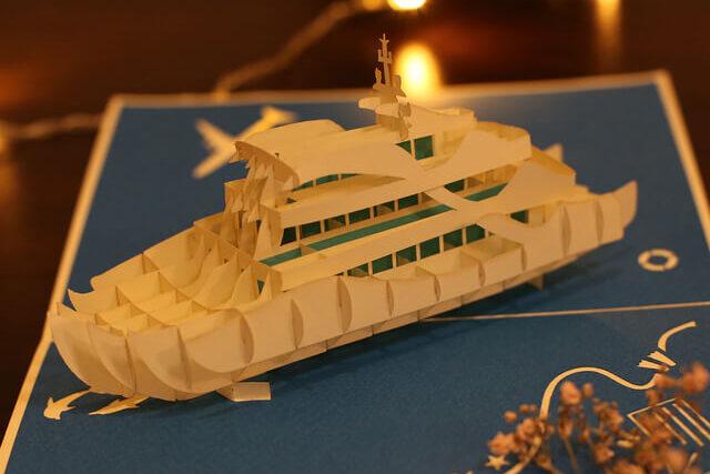 cadeau entreprise Croisiere-carte Pop Up 3D chez cartepopup.com